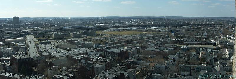Cambridge and Charlestown seen from the Bunker Hill Memorial