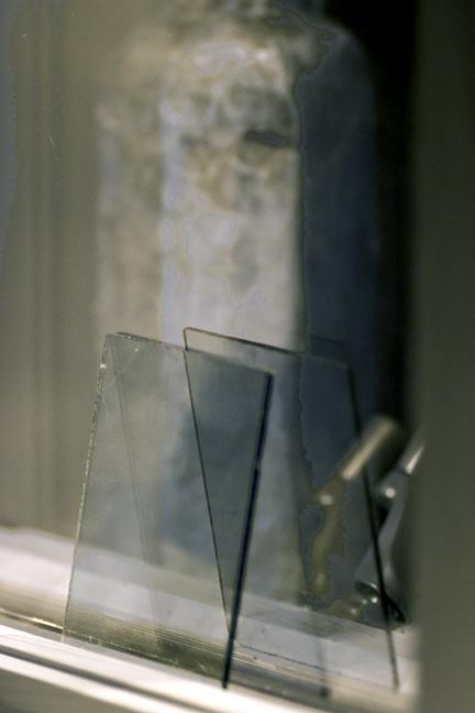 Dark Cobalt Blue Glass and Window Reflections