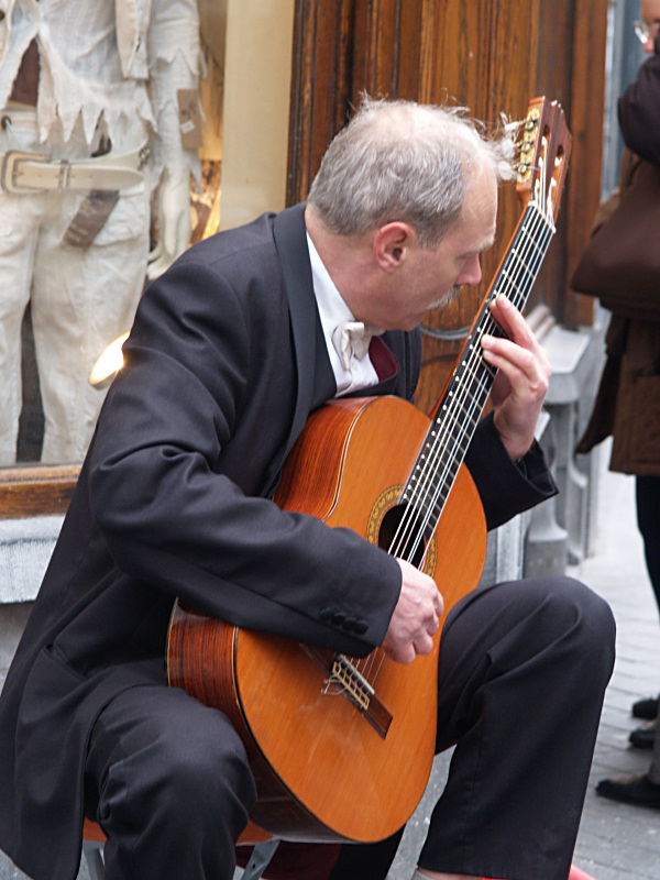 Guitar player on the street
