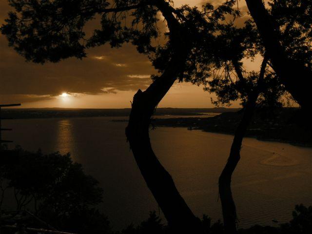 sunset - sepia