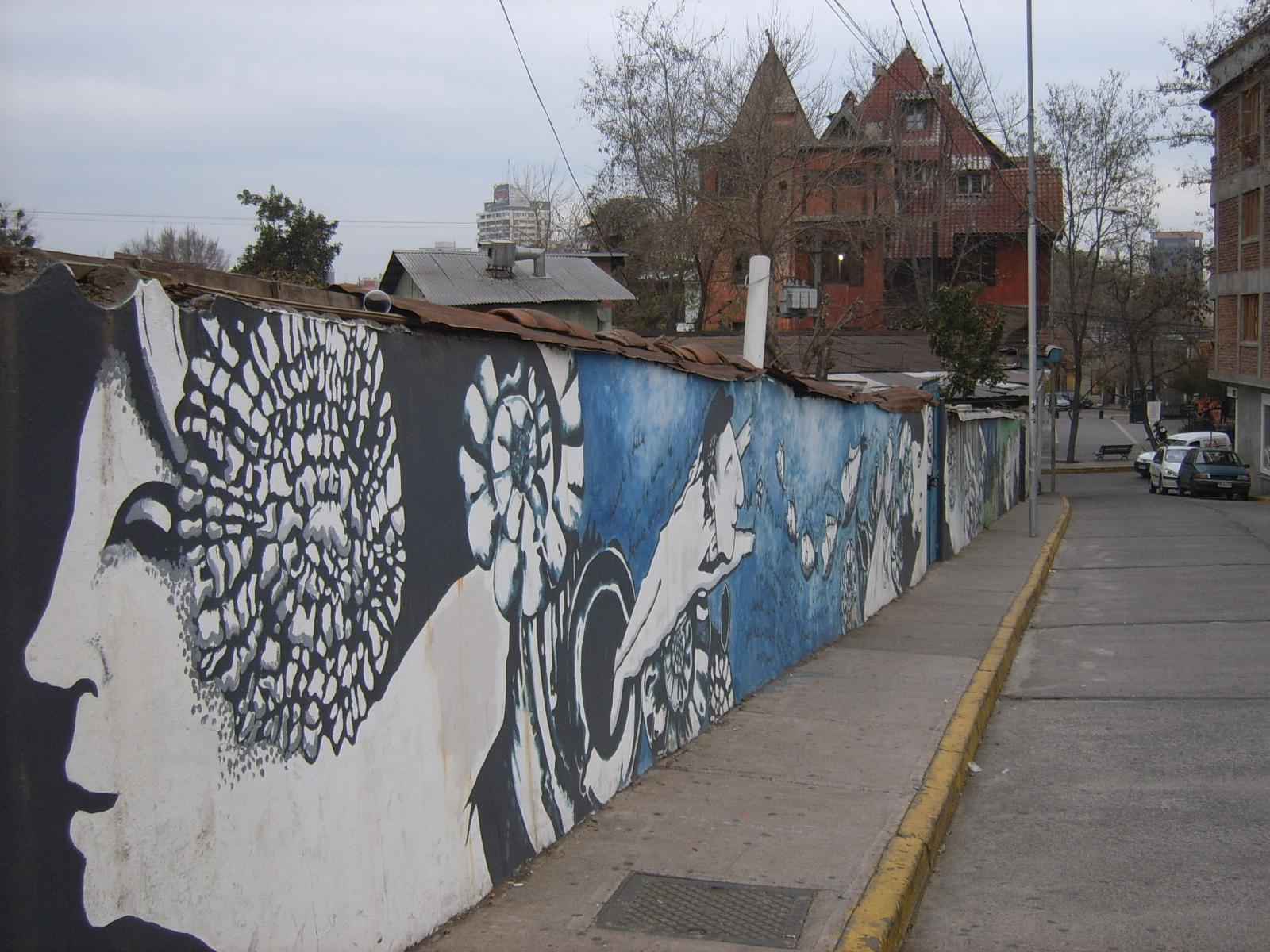 Pablo Nerudas BellaVista neighbourhood around Cascona, Santiago