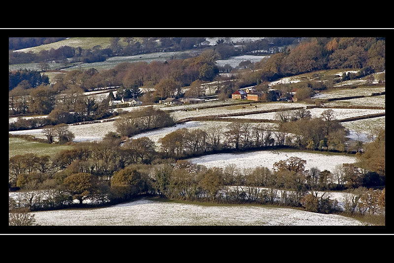Blackdown hills with a dusting of snow