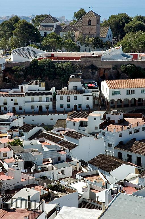 Church and bull ring, Mijas
