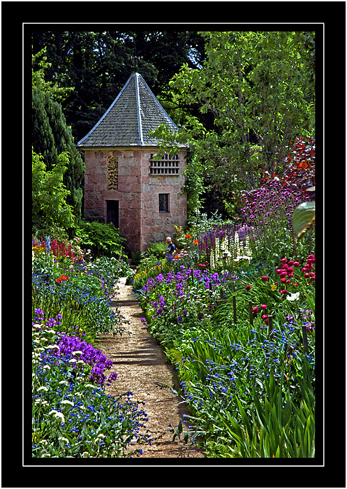 Another garden corner, Crathes Castle, Banchory, Aberdeenshire, Scotland