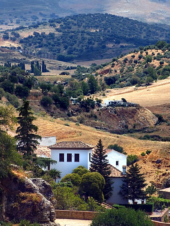 House and valley, Ronda