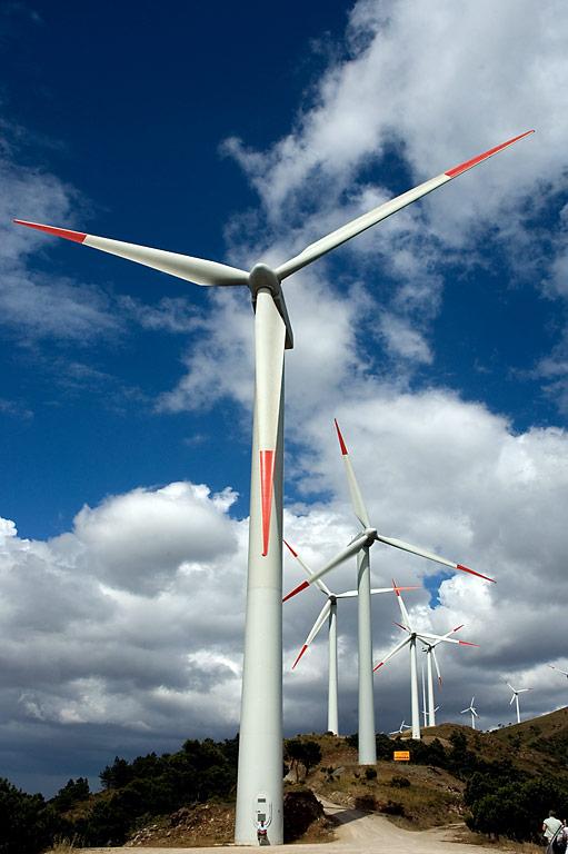 Colin and turbines! Sierra de Aquas