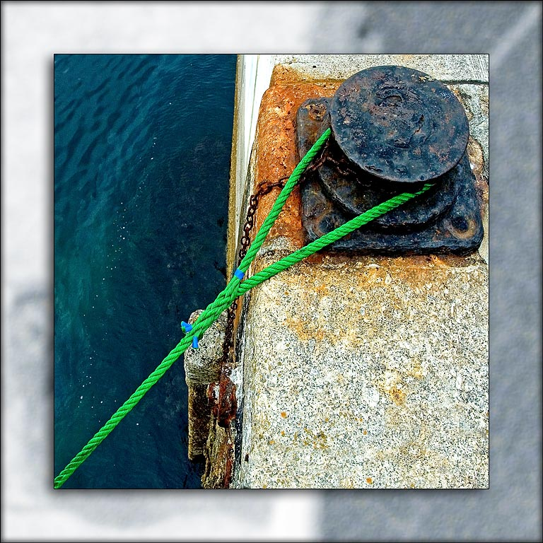 Green rope, Mevagissey, Cornwall