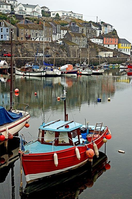 Rednblue boat, Mevagissey, Cornwall
