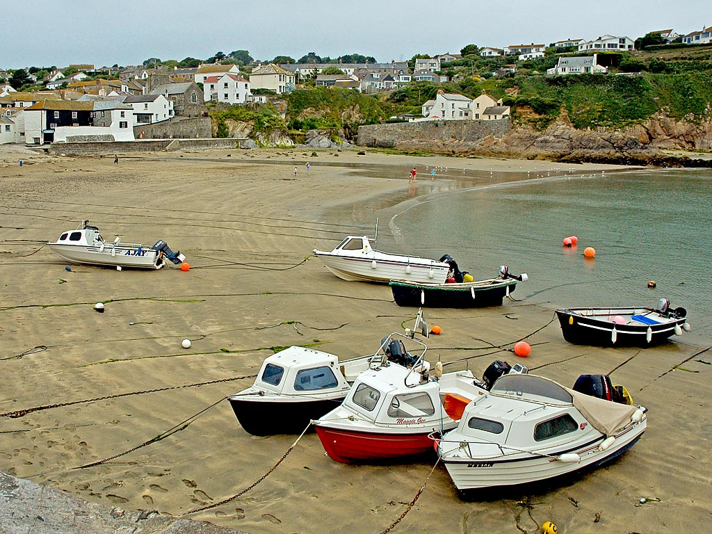 Beach and boats, Gorran Haven, Cornwall
