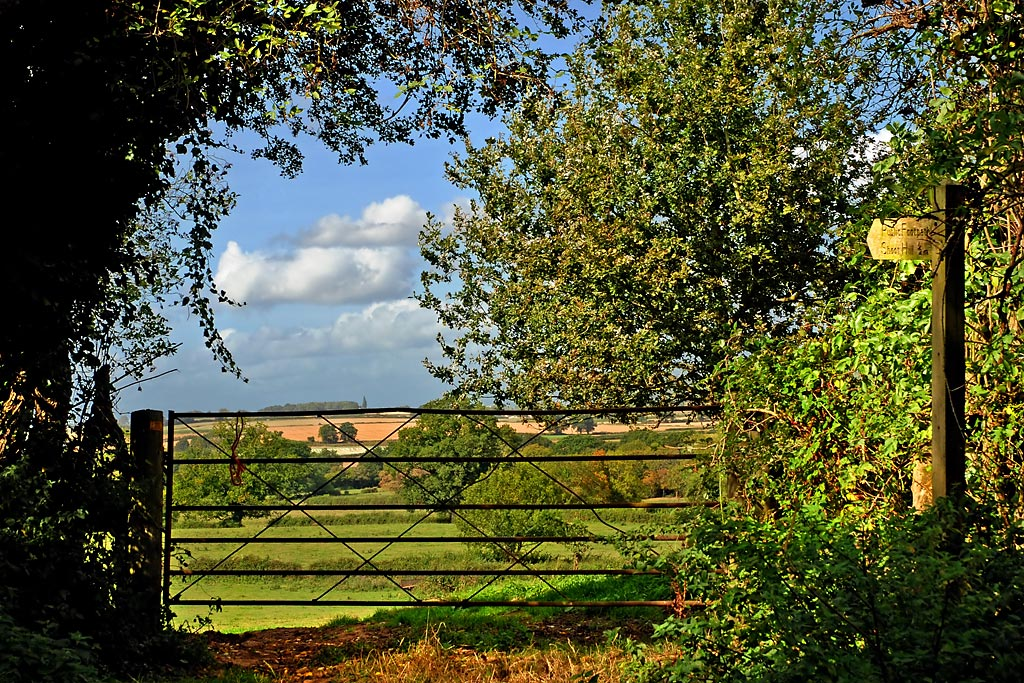 Farm gate and view (3519)