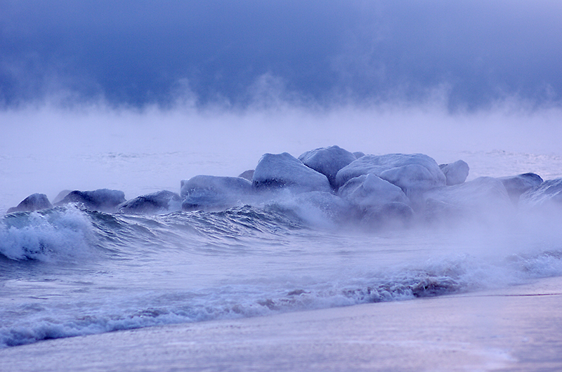 Sea Fog Sunrise at 7 Below Zero ~ Plum Island