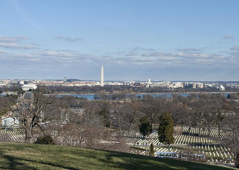 Vista from Arlington Cemetery