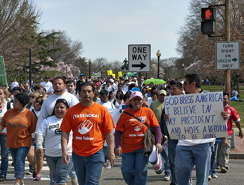 Immigration Reform march on Capitol Hill