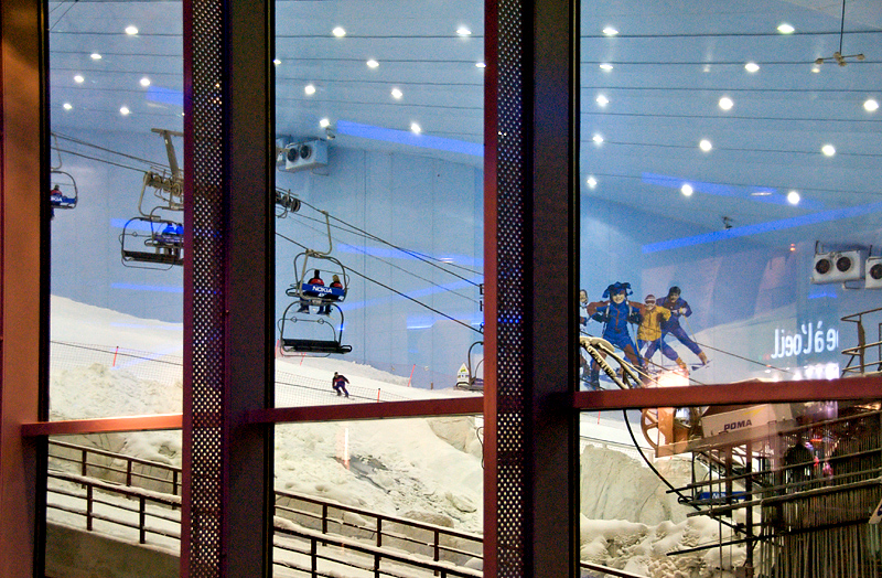 Giant ski run at Mall of the Emirates