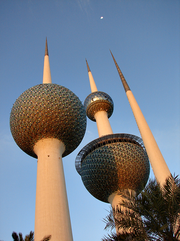 Moon over Kuwait Towers
