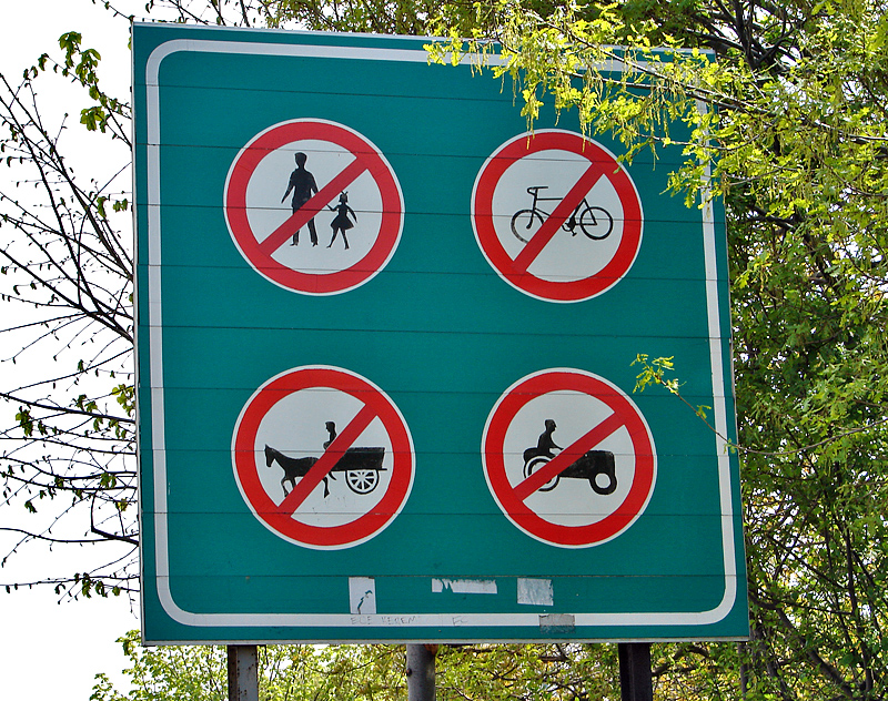 No horse and buggies, either