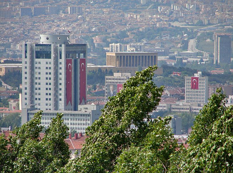 Anitkabir in distance, on Atatürk Day