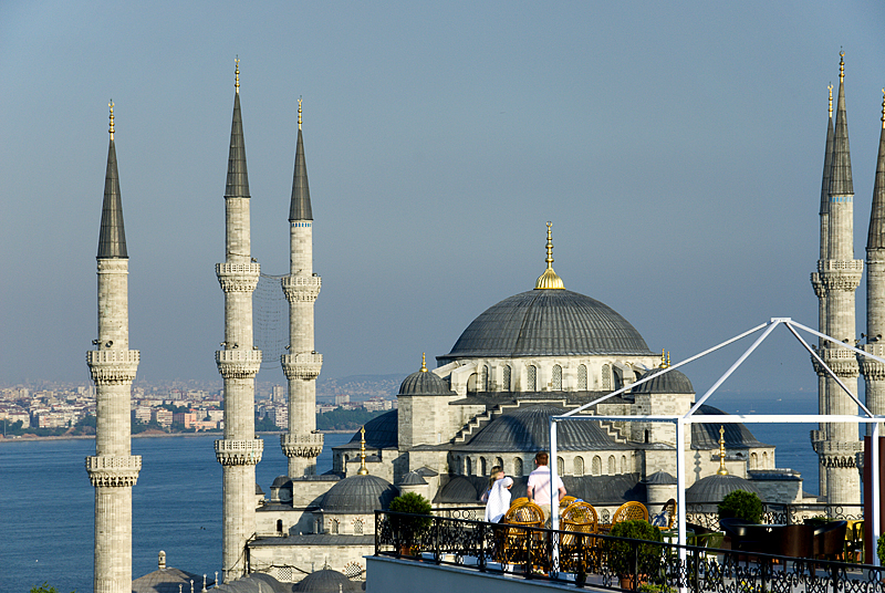 Dining in the shadow of the Blue Mosque