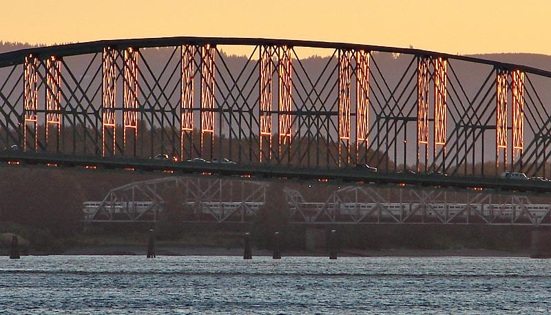 Interstate-5 Bridge at Sunset