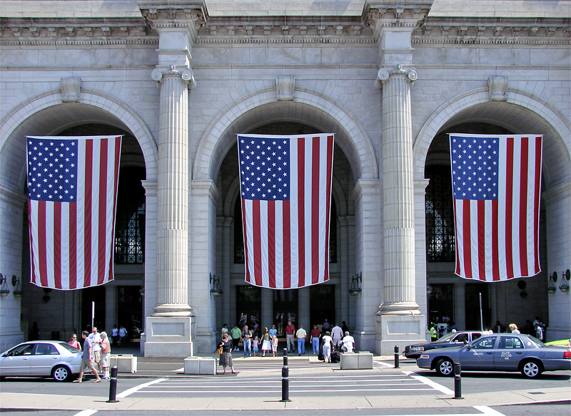 Ready for the 4th at Union Station