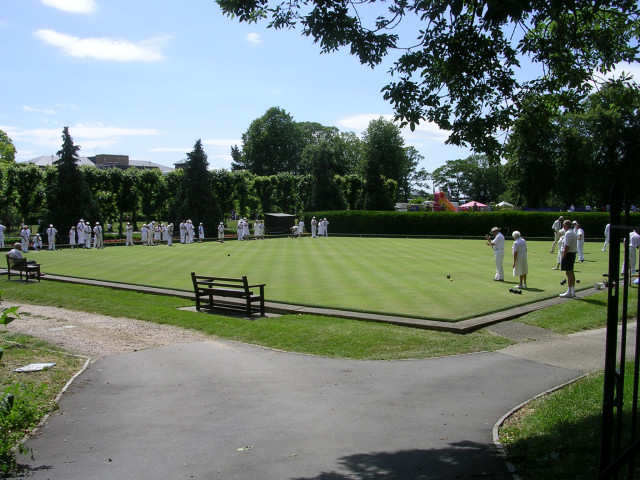 Lawn bowling on Saturday afternoon