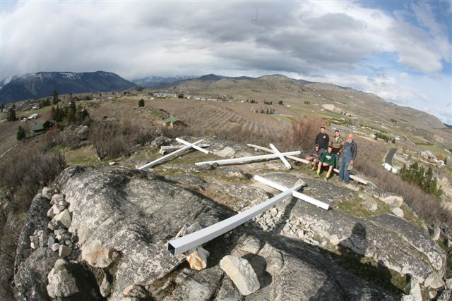 Scout Troop Replacing Three Crosses On Scout Hill