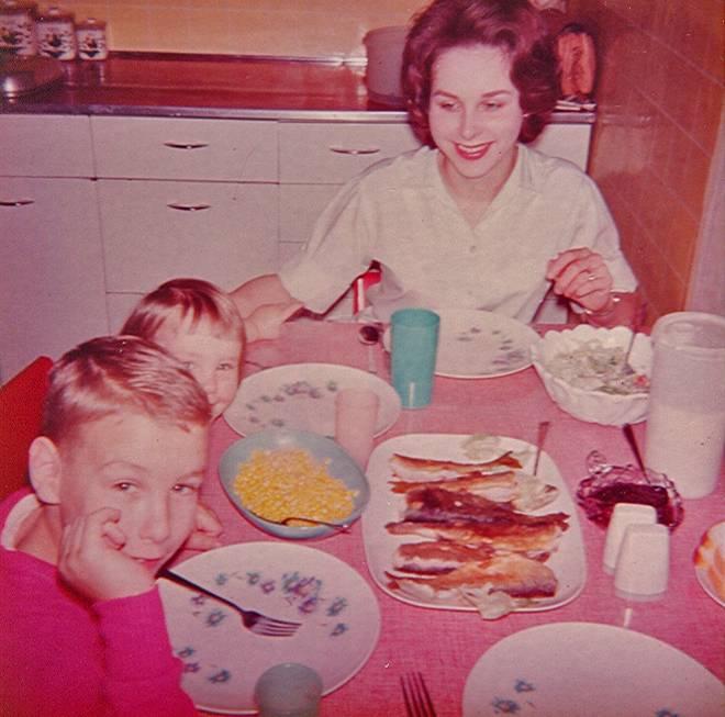 Fish Dinner at home ( April 1964)