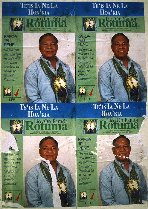 Election poster for the Rotuma constituency