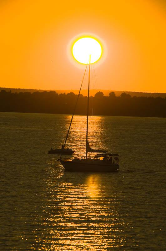 Sunset Lake Champlain