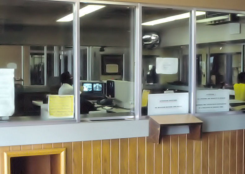 Sally port (locked doors on each side)