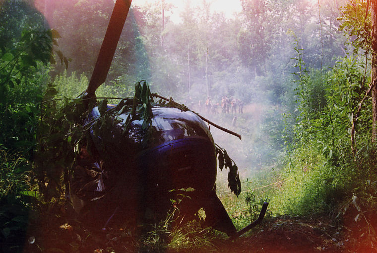 Simulated Crash Scene