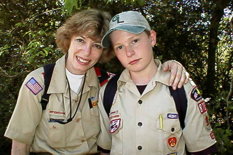 Ginny and Robert<br>Sam Houston Trail - April 1998