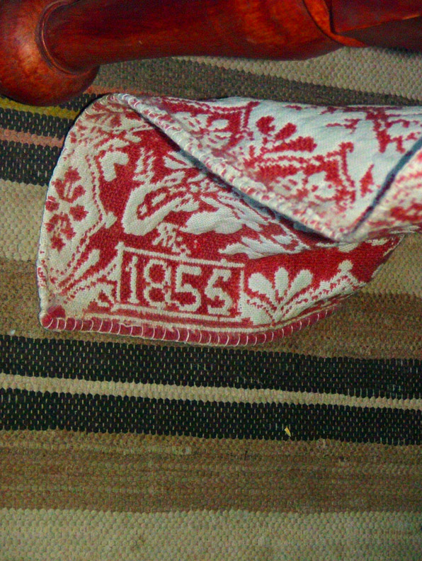 Blanket from 1855 at Cove Fort Utah