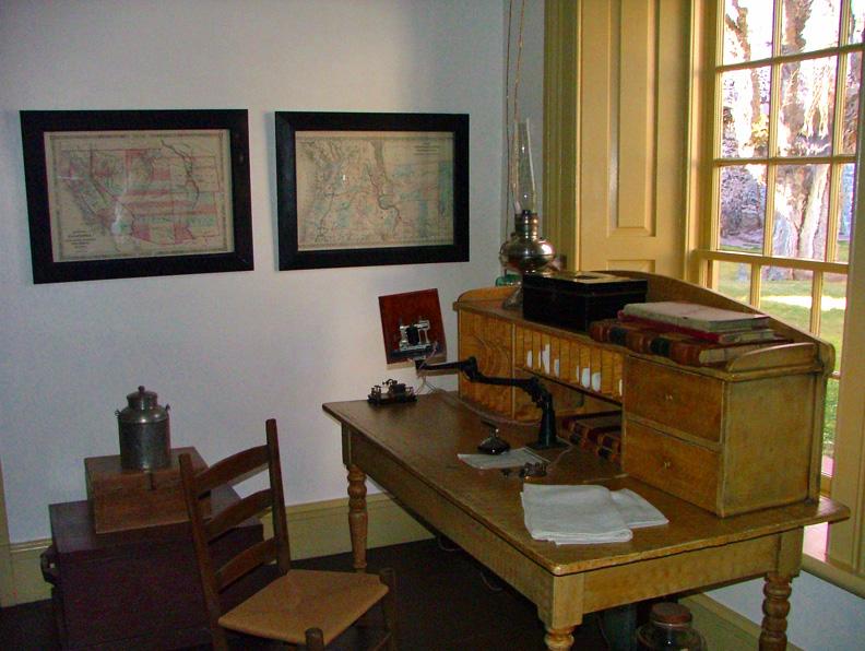 Telegraph Table inside Cove Fort Utah