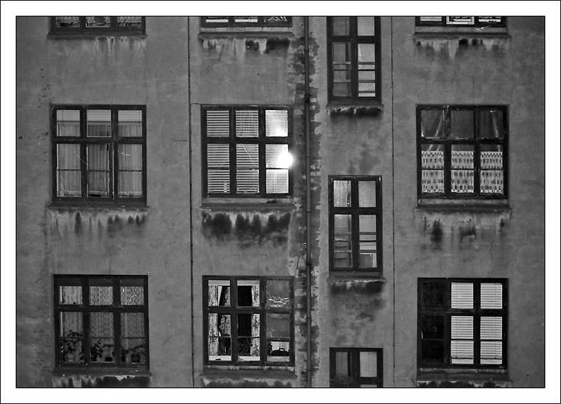 Windows in a backyard Nørrebro - Copenhagen in the 70´s