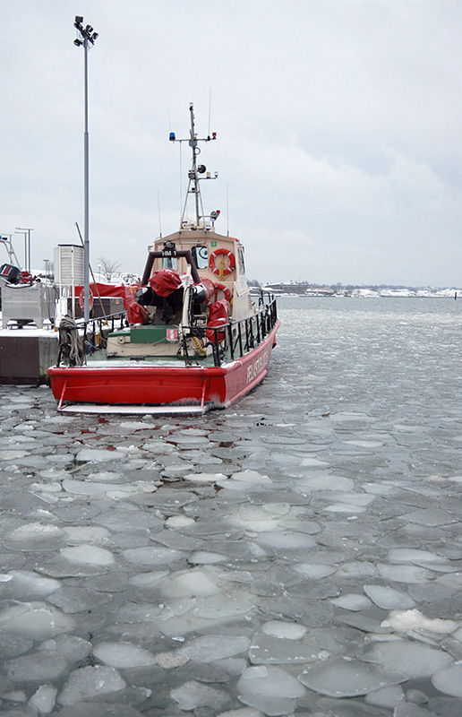 Red Boat in Ice