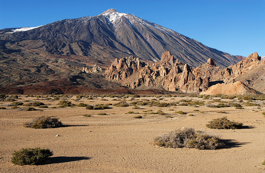 View of Los Roques and Teide