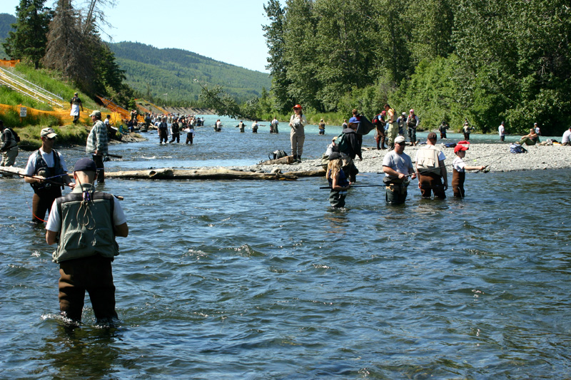 Fishermen at confluence of Russian and Kenai River