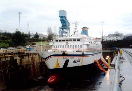 Queen of the North in dry dock