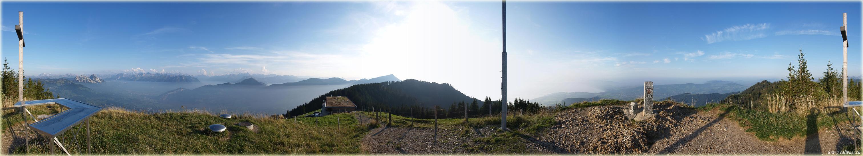 Rundblick vom Wildspitz (ZG/SZ) - 1. Version