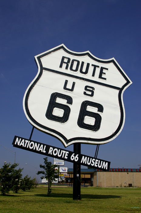 Route 66 sign, National Route 66 Museum, Elk City, Oklahoma