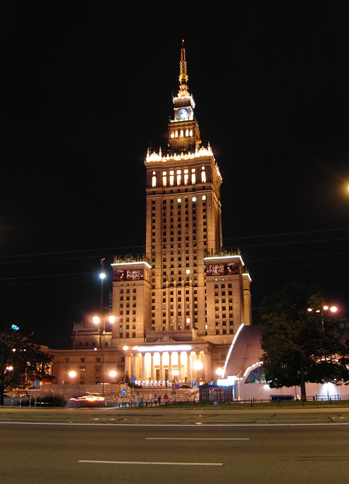 Culture Palace at night