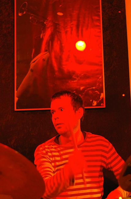 Jeppe Lindgren, drummer from Kwella Trio