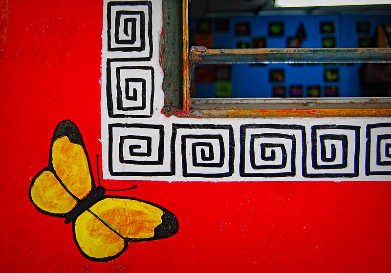 Panama Viejo window