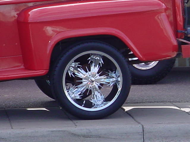 1957 Chevy pickup wheel