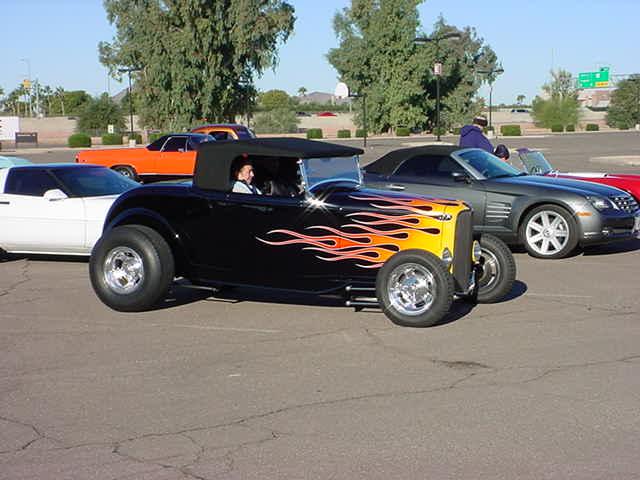 black convertible roadster