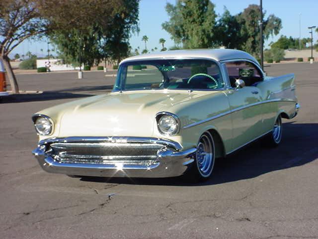 yellow 1957 Chevrolet