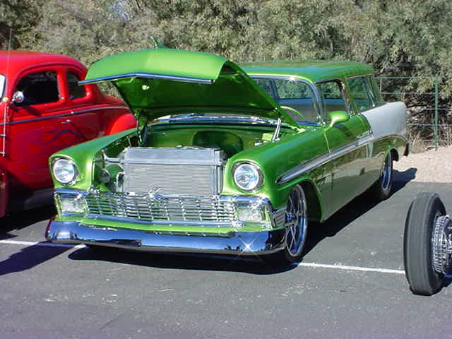 green 1956 Chevy Nomad in 2005
