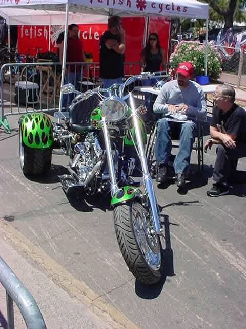green trike chopper