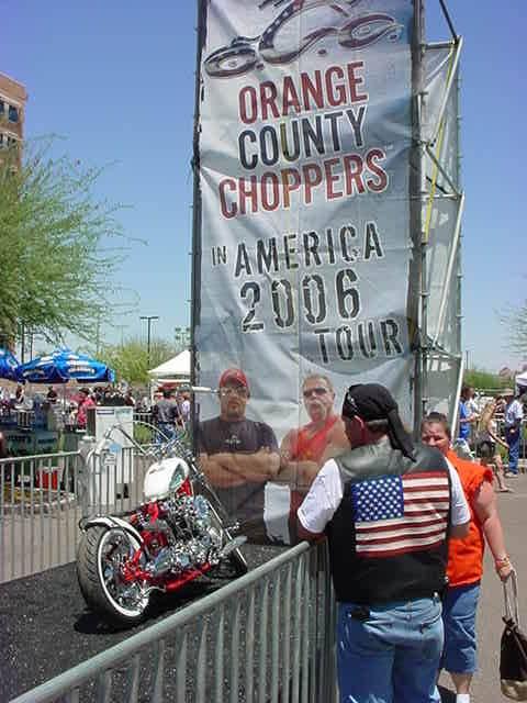 chopper and flag